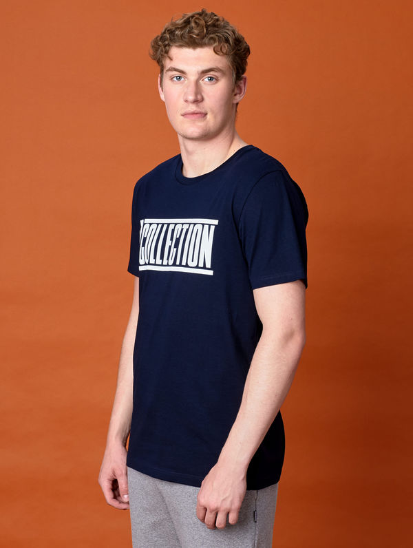 Slim Logo T-Shirt dark blue / white R-Collection