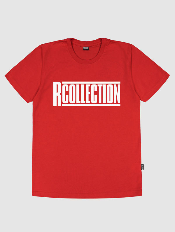 Slim Logo T-Shirt red / white R-Collection