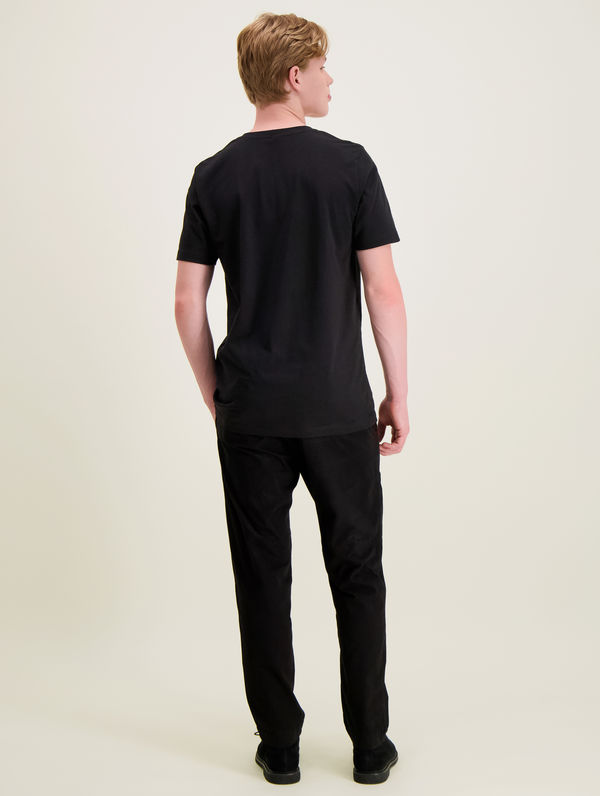 Slim Logo T-Shirt black / white R-Collection