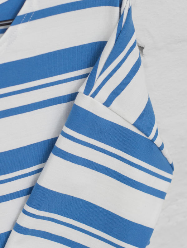 Boxy Striped T-Shirt white/provence blue stripe