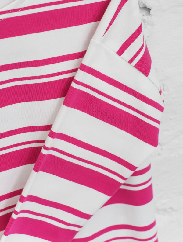 Boxy Striped T-Shirt white/raspberry sorbet stripe