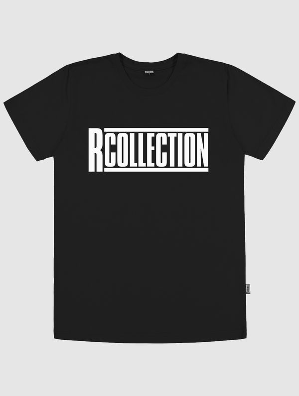 Logo T-Shirt black / white R-Collection