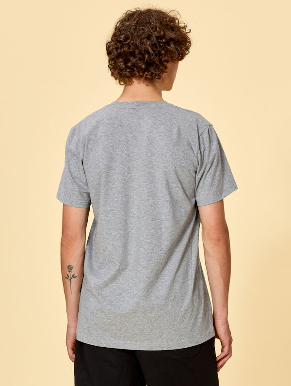 T-Shirt light melange grey