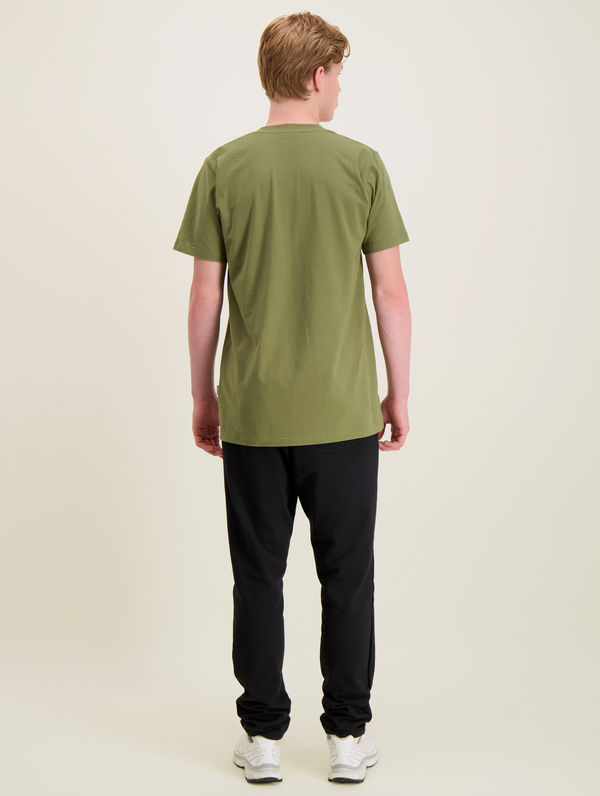 Logo T-Shirt moss green / white R-Collection