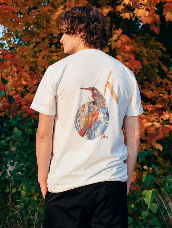 WWF & R-Collection T-Shirt cream / kingfisher