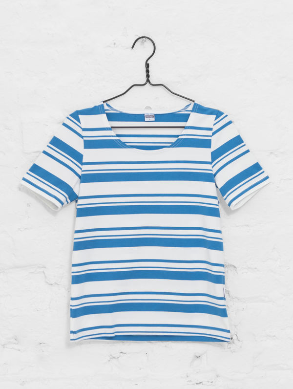 Women´s Striped T white/provence blue stripe