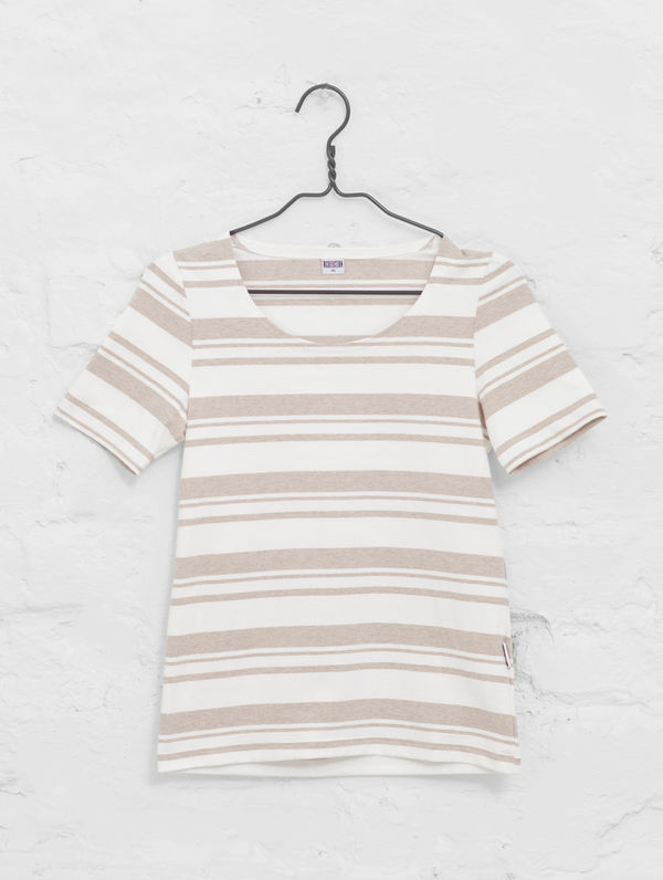 Women´s Striped T white/sand stripe
