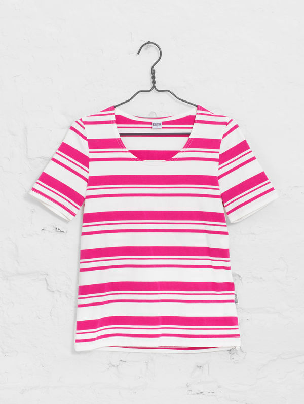 Women´s Striped T white/raspberry sorbet stripe
