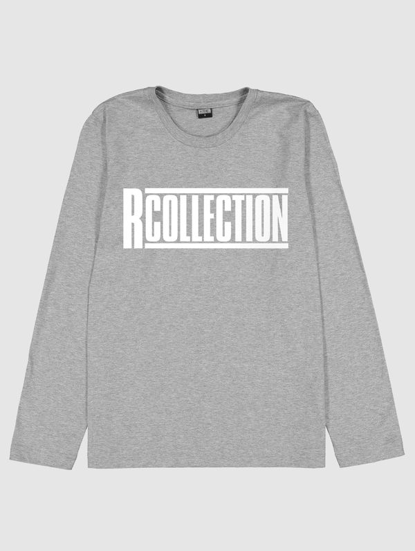 Long-Sleeved T-Shirt light grey melange / white R-Collection
