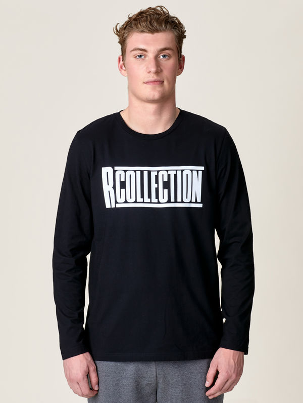 Long-Sleeved T-Shirt black / white R-Collection