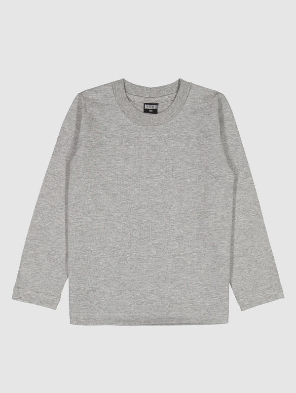 Children's Long-Sleeved T-Shirt light melange grey