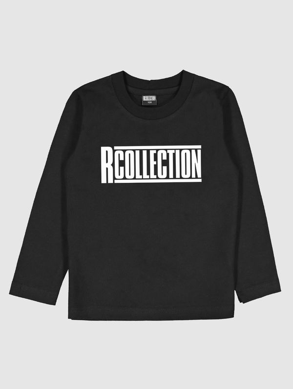 Children's Long-Sleeved T-Shirt black / white R-Collection