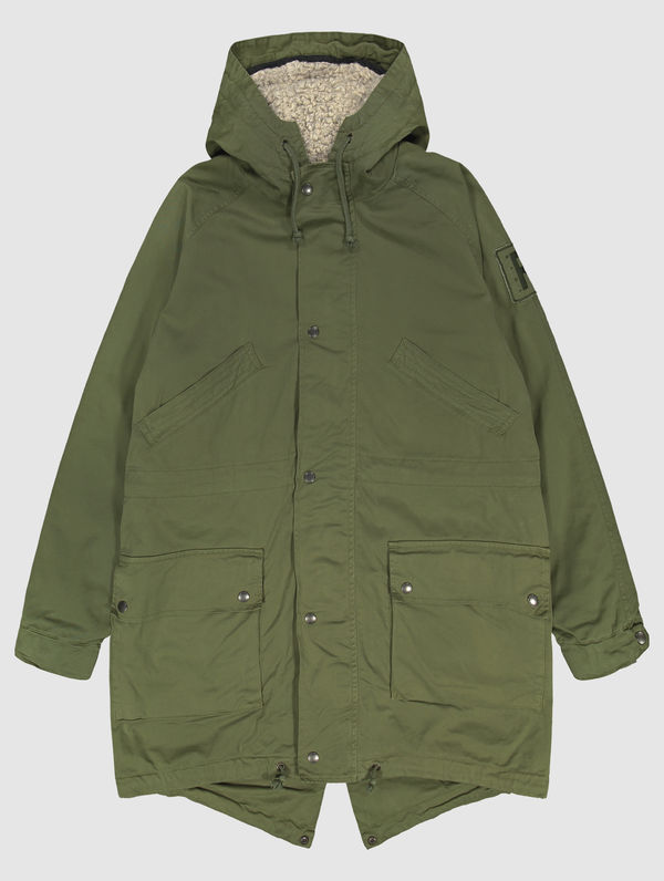Classic Parka (gray lining) moss green