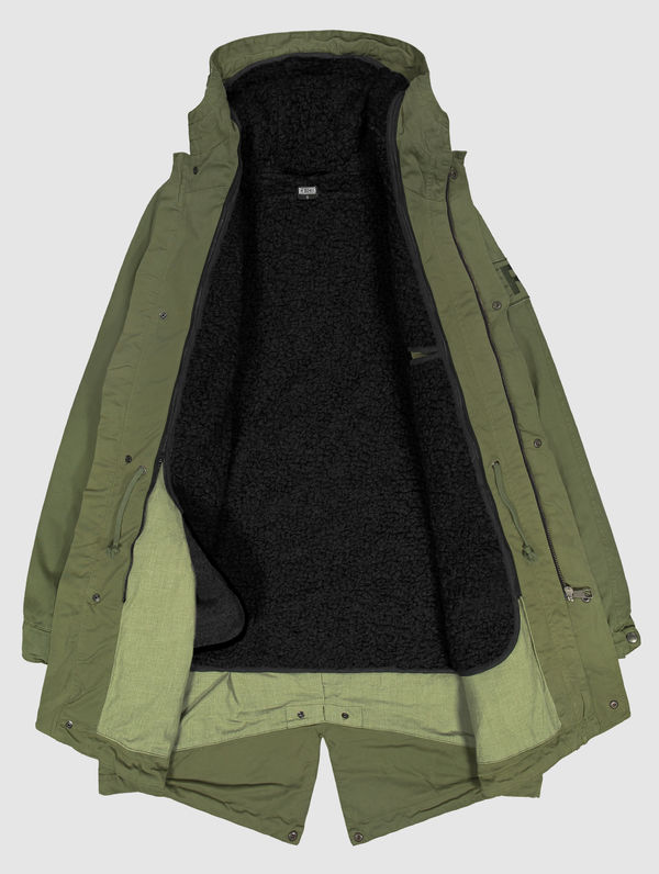 Classic Parka (black lining) moss green