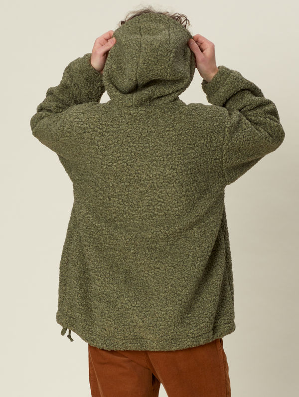 Teddy Anorak moss green
