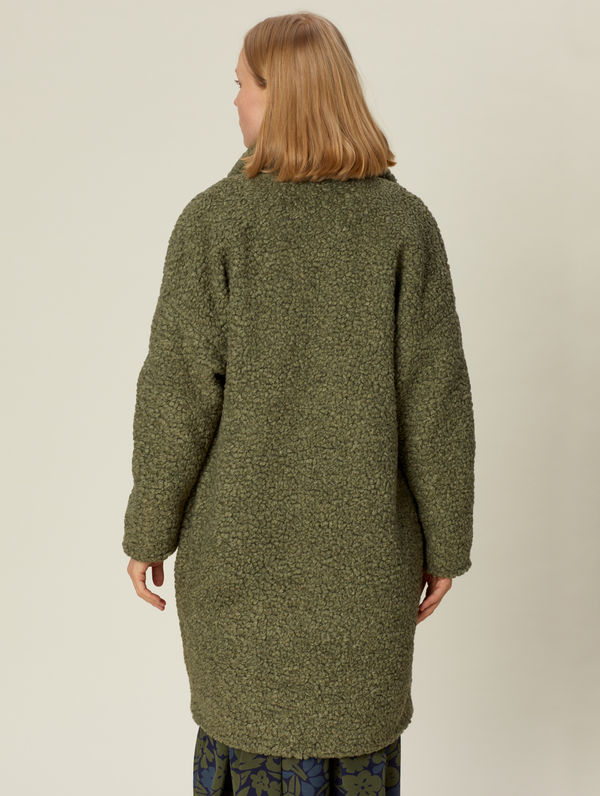 Teddy Coat moss green