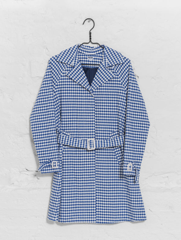 Trench Coat blue/white check
