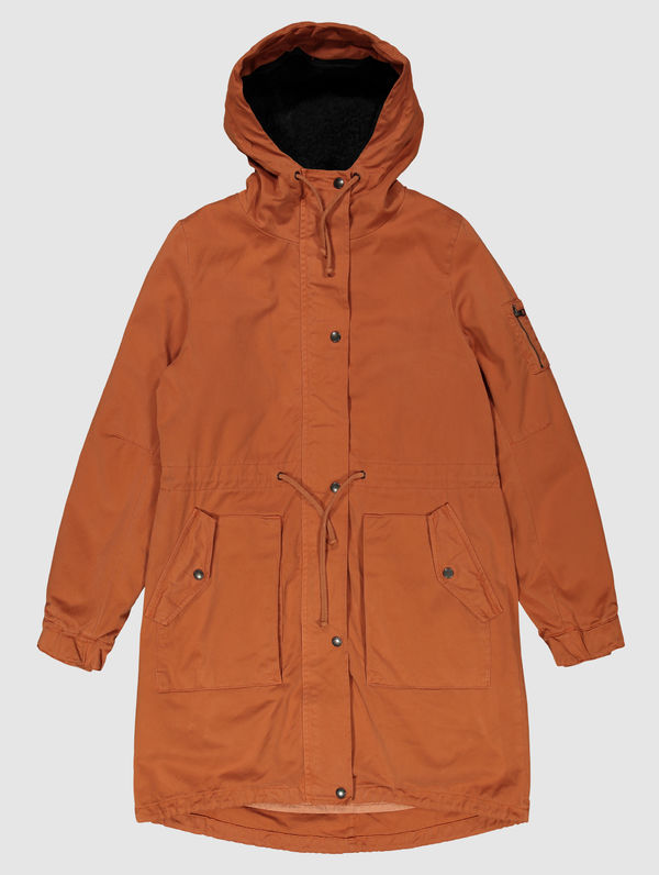 Women's Winter Parka (black lining) orange