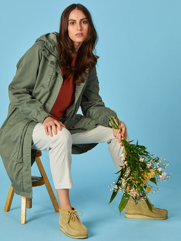 Kielo Parka light moss green