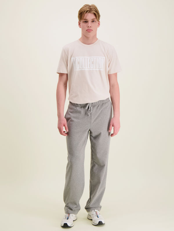 Straight-Cut Sweatpants light grey melange