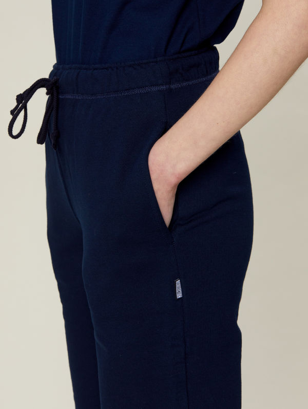 Straight-Cut Sweatpants dark blue
