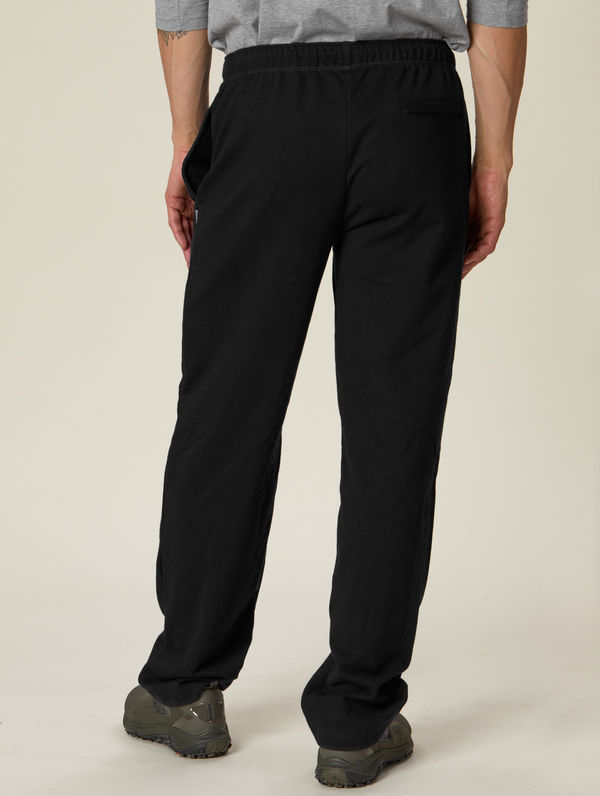 Straight-Cut Sweatpants black