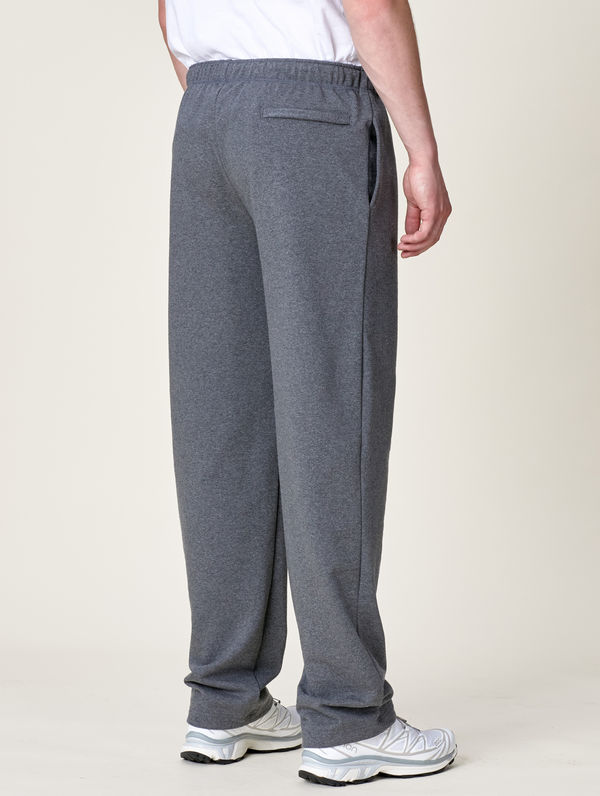 Straight-Cut Sweatpants dark grey melange