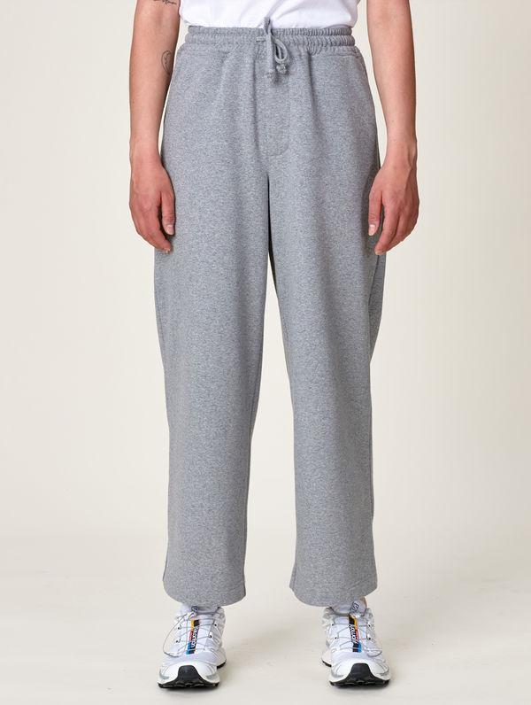 Women's Wide-Legged Sweatpants light grey melange