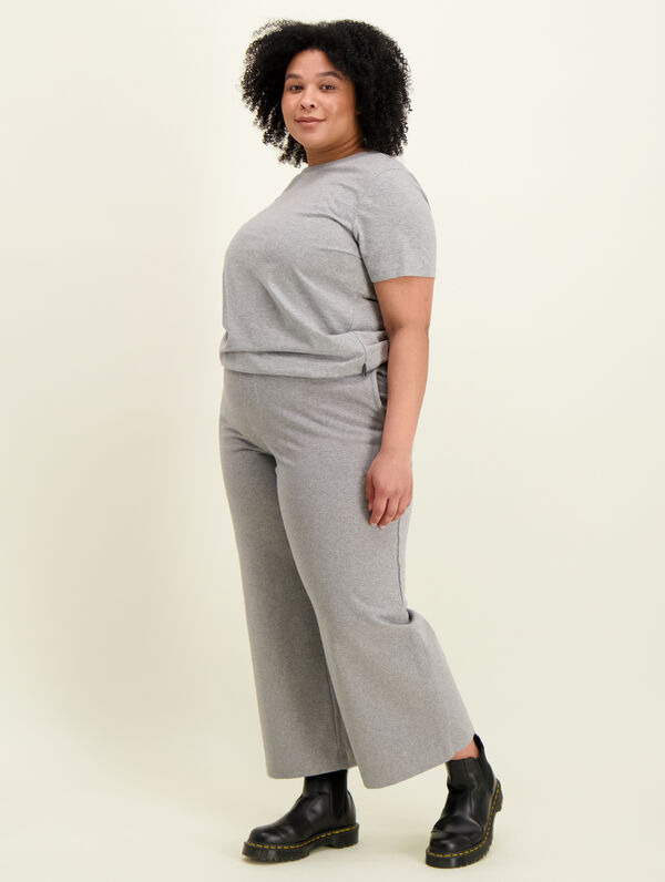 Sweatpant Culottes light grey melange