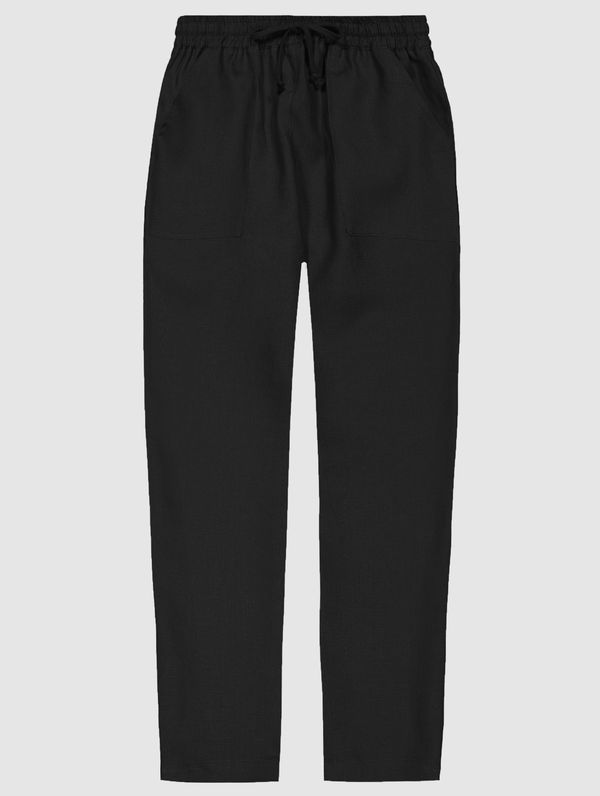 Aaro Linen Trousers black