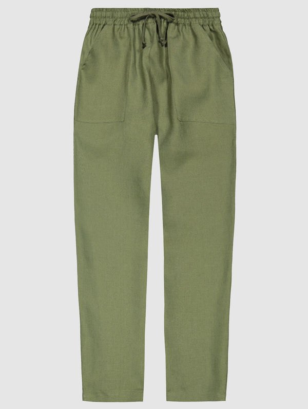 Aaro Linen Trousers moss green