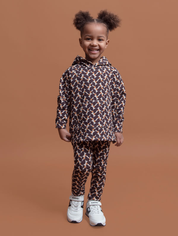 Children's Ruska Leggings burgundy ruska print