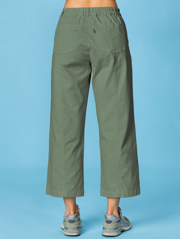 Lulu Wide Leg Pants light moss green