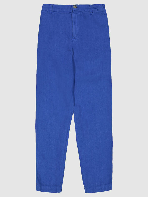 Pia Linen Trousers sea blue