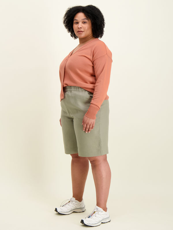 Lilja Linen Shorts light moss green