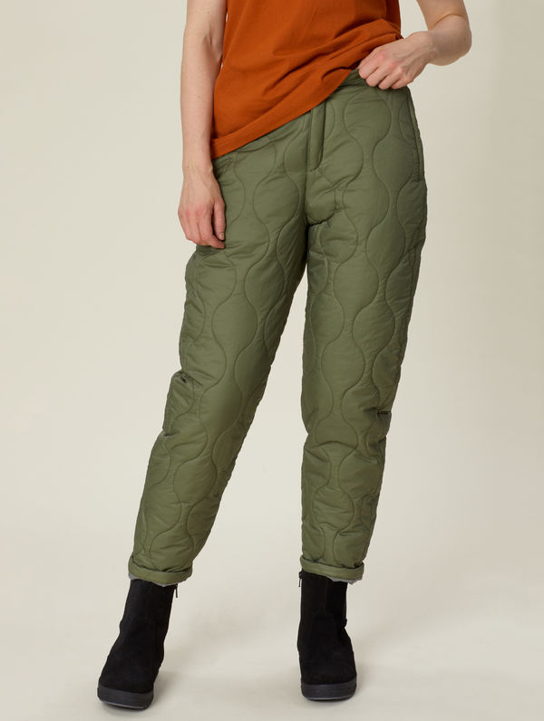 Rene Quilted Trousers moss green