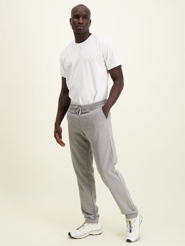 Slim Straight-Cut Sweatpants light grey melange