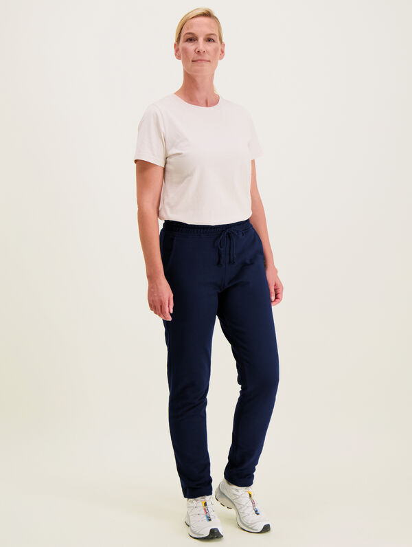 Slim Straight-Cut Sweatpants dark blue