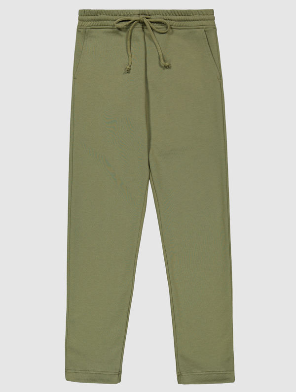 Slim Straight-Cut Sweatpants moss green