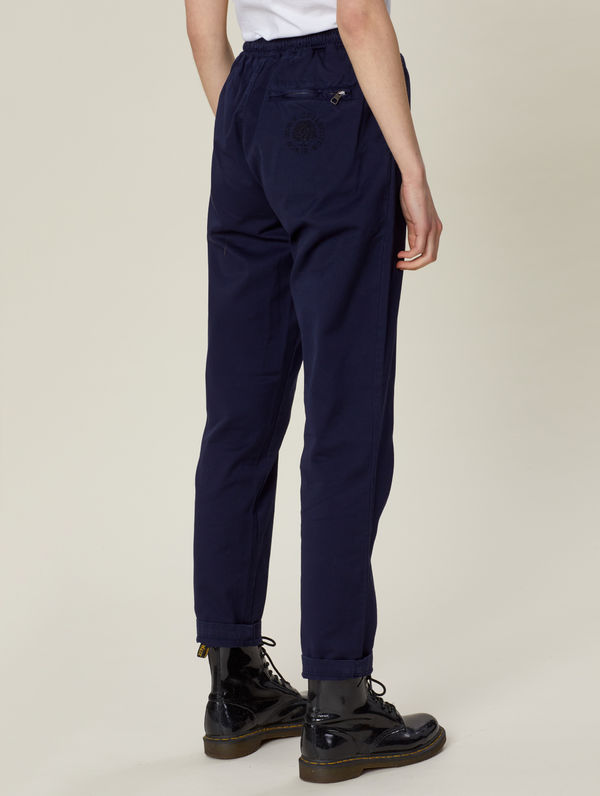 Straight-Cut Anorak Pants ink blue