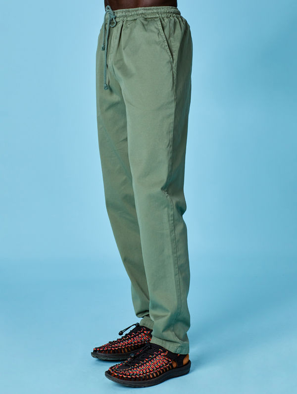 Straight-Cut Anorak Pants light moss green