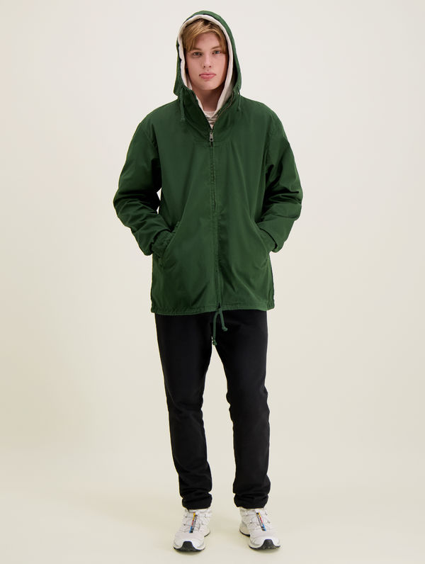 Zipper Anorak forest green