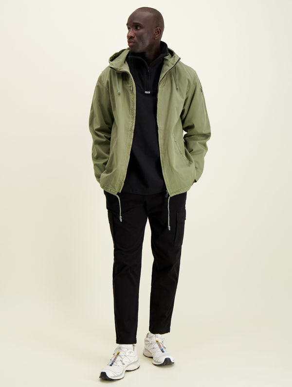 Zipper Anorak light moss green