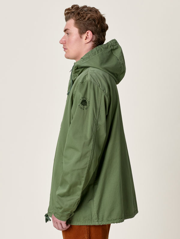 Zipper Anorak moss green