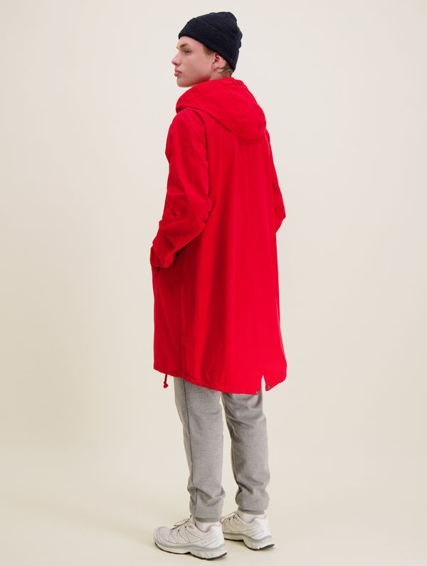 Maxi Anorak red