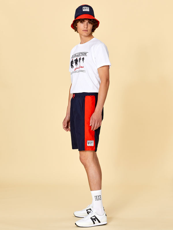 Sport Line Shorts tomato / ink blue