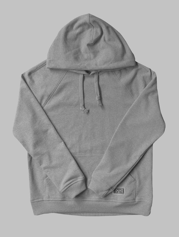 Recycled Hoodie light grey melange