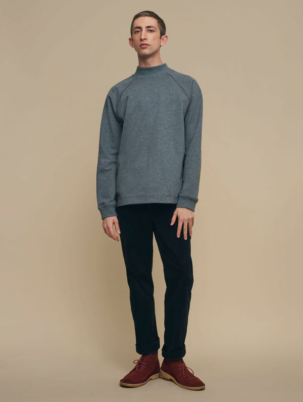 Turtleneck Sweatshirt dark melange grey