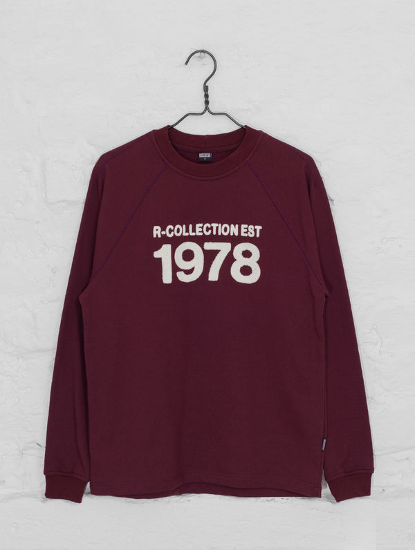 Heritage Sweatshirt burgundy / cream 1978