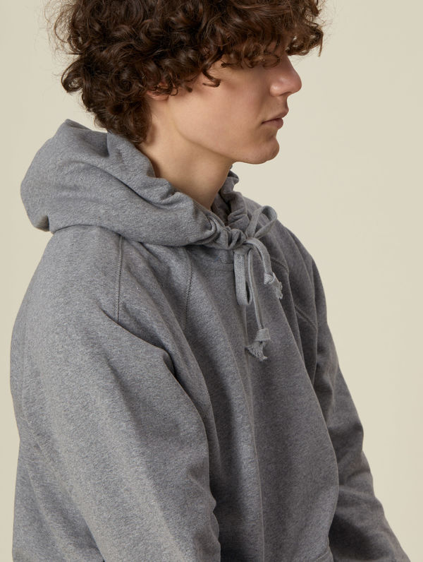 Logo Hoodie light grey melange / white R-Collection